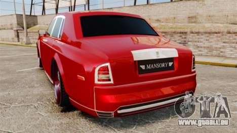 Rolls-Royce Phantom Mansory pour GTA 4 Vue arrière de la gauche