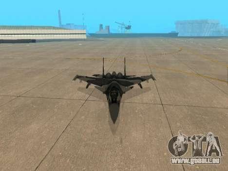 Su 33 pour GTA San Andreas vue de dessus