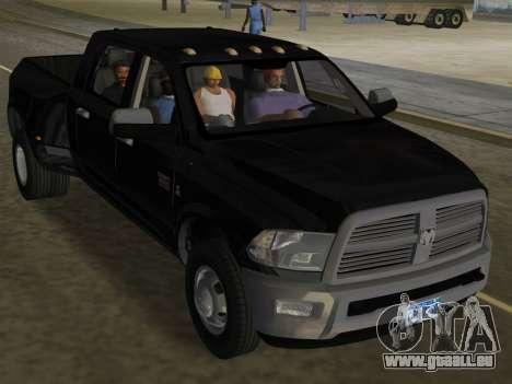 Dodge Ram 3500 Laramie 2012 für GTA Vice City obere Ansicht