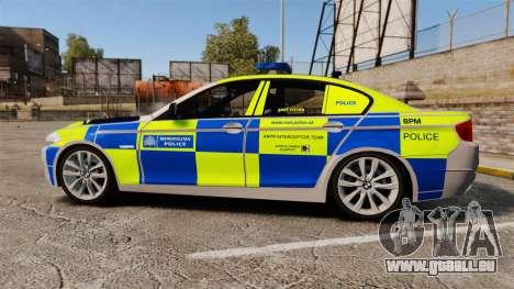 BMW 550i Metropolitan Police [ELS] pour GTA 4 est une gauche