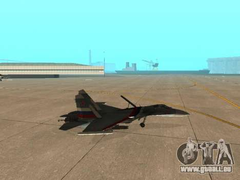 Su-33 für GTA San Andreas Rückansicht