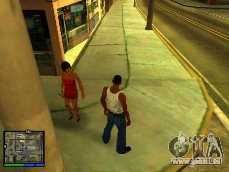 Pak peaux les filles pour GTA San Andreas septième écran