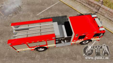Division on Fire Columbus Firetruck [ELS] für GTA 4 rechte Ansicht