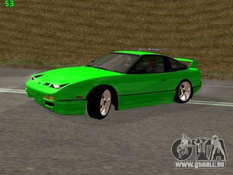 Nissan 240SX Drift Version für GTA San Andreas linke Ansicht