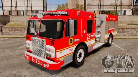 Division on Fire Columbus Firetruck [ELS] pour GTA 4
