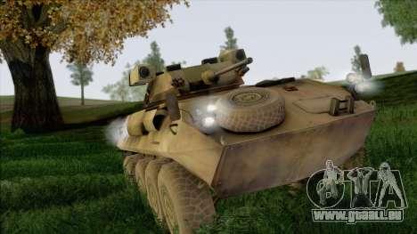 Camouflage forêt LAV-25 pour GTA San Andreas vue arrière
