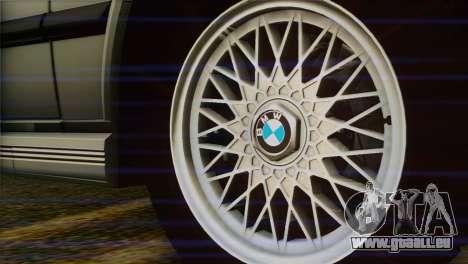 BMW M5 E28 für GTA San Andreas zurück linke Ansicht