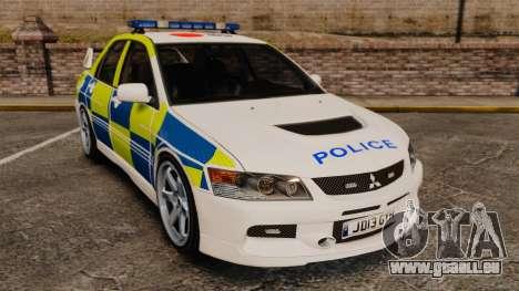 Mitsubishi Lancer Evolution IX Uk Police [ELS] pour GTA 4