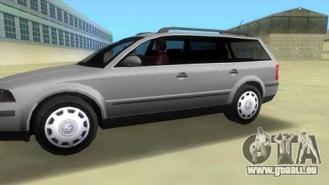 Volkswagen Passat B5+ Variant 1.9 TDi pour une vue GTA Vice City de la gauche