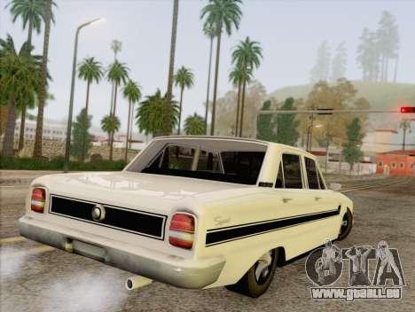 Ford Falcon pour GTA San Andreas laissé vue