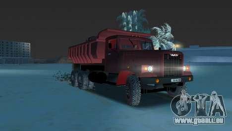 Camion à benne basculante KrAZ 255 pour une vue GTA Vice City de la gauche