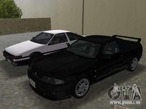 Nissan SKyline GT-R BNR33 für GTA Vice City Motor