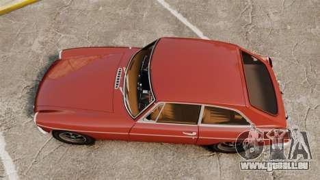 MG MGB GT 1965 für GTA 4 rechte Ansicht