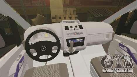 Mercedes-Benz Vito Metropolitan Police [ELS] pour GTA 4 Vue arrière