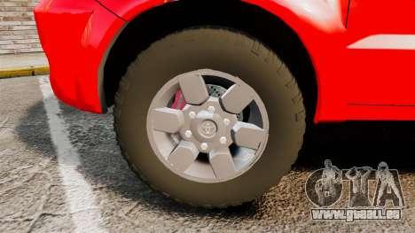 Toyota Hilux Land Forces France [ELS] pour GTA 4 Vue arrière