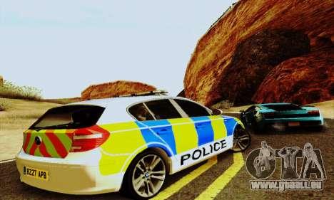 BMW 120i SE Police für GTA San Andreas Rückansicht