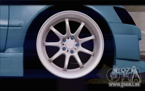 Mitsubishi Lancer Evolution Stance pour GTA San Andreas sur la vue arrière gauche