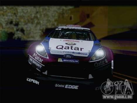 Ford Fiesta RS WRC 2013 für GTA San Andreas rechten Ansicht