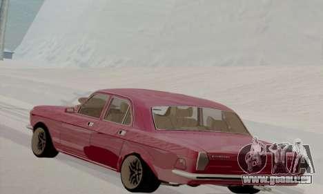 GAZ Volga 2410 Hot Road pour GTA San Andreas sur la vue arrière gauche
