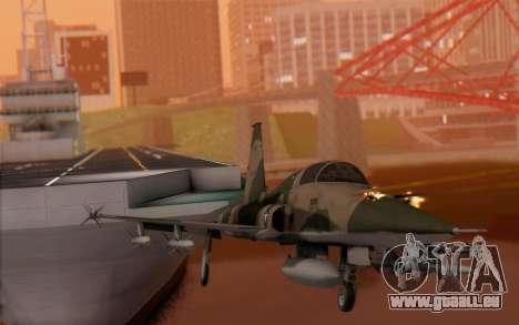 F-5 Tiger II für GTA San Andreas Rückansicht
