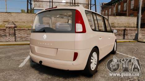 Renault Espace IV Initiale v1.1 pour GTA 4 Vue arrière de la gauche