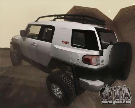 Toyota FJ Cruiser 2012 für GTA San Andreas obere Ansicht