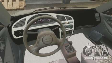 Daewoo Lanos S PL 2001 pour GTA 4 est une vue de l'intérieur