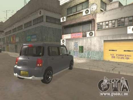 Suzuki Alto Lapin pour GTA San Andreas vue de dessus