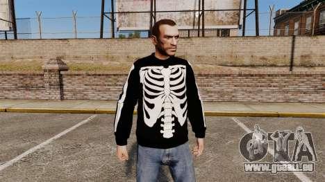Pull noir-squelette pour GTA 4