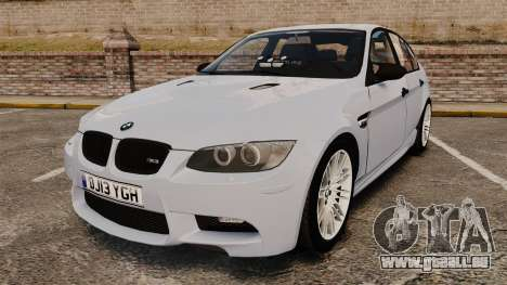 BMW M3 Unmarked Police [ELS] pour GTA 4
