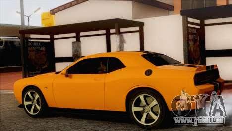 Dodge Challenger SRT8 2012 HEMI pour GTA San Andreas laissé vue