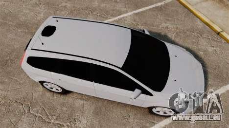 Ford Focus Estate 2009 Unmarked Police [ELS] für GTA 4 rechte Ansicht