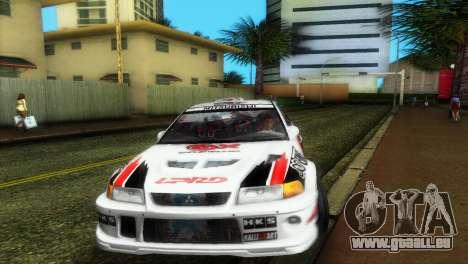 Mitsubishi Lancer Rally pour GTA Vice City vue arrière
