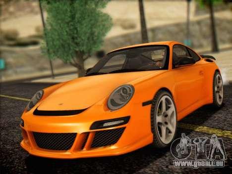 RUF RT12S pour GTA San Andreas sur la vue arrière gauche
