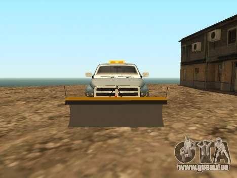 Dodge Ram pour GTA San Andreas vue intérieure