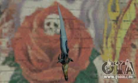 Couteau de Prince of Persia pour GTA San Andreas deuxième écran