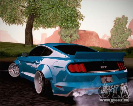 Ford Mustang Rocket Bunny 2015 pour GTA San Andreas vue intérieure