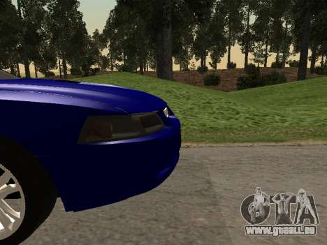 Ford Mustang GT 1999 pour GTA San Andreas vue arrière