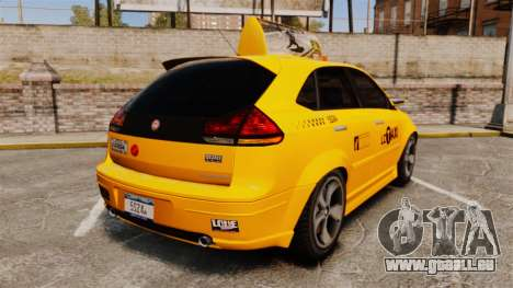 Habanero Taxi für GTA 4 hinten links Ansicht