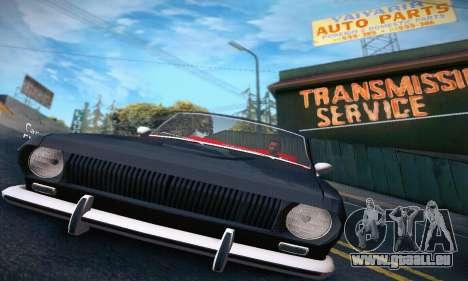 GAZ Volga 24 Cabriolet pour GTA San Andreas vue intérieure