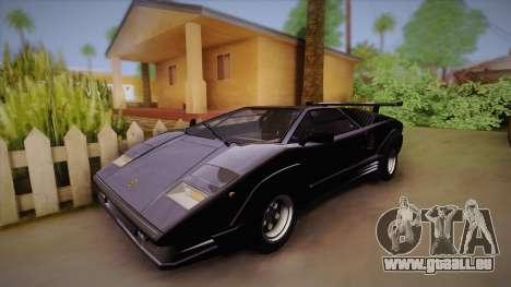Lamborghini Countach 25th Anniversary für GTA San Andreas Rückansicht