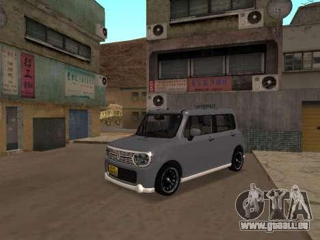 Suzuki Alto Lapin pour GTA San Andreas laissé vue