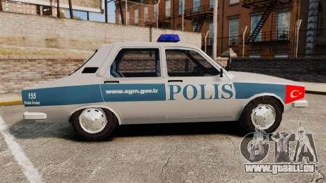 Renault 12 Turkish Police pour GTA 4 est une gauche