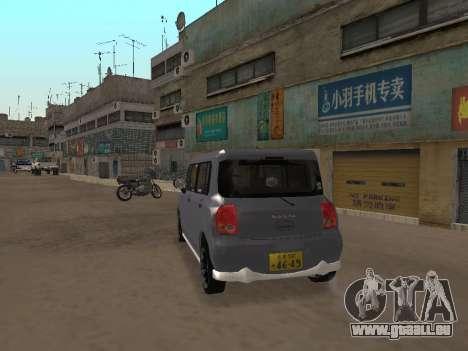 Suzuki Alto Lapin pour GTA San Andreas vue de droite