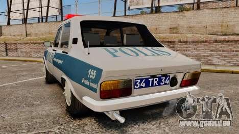 Renault 12 Turkish Police pour GTA 4 Vue arrière de la gauche