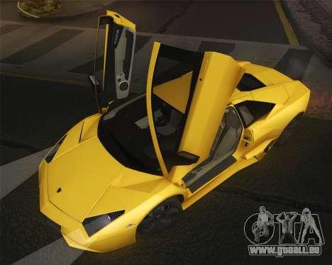 Lamborghini Reventon 2008 SLOD für GTA San Andreas rechten Ansicht