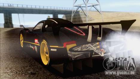 Pagani Zonda R SPS v3.0 Final pour GTA San Andreas laissé vue