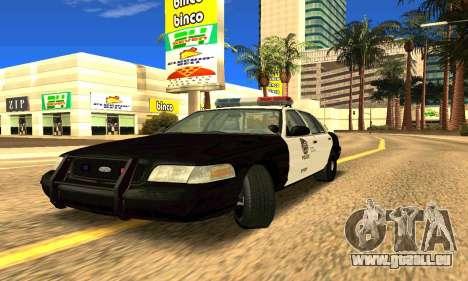 Ford Crown Victoria Police LV pour GTA San Andreas laissé vue