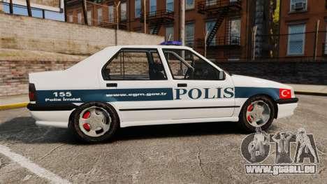 Renault 19 Turkish Police für GTA 4 linke Ansicht