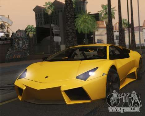 Lamborghini Reventon 2008 SLOD für GTA San Andreas zurück linke Ansicht